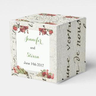 Vintage Rose Wedding Favor Box Favour Box
