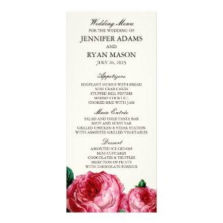 VINTAGE ROSE | WEDDING MENU CUSTOM RACK CARDS