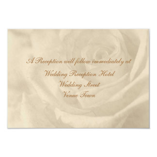 Vintage Rose Wedding Reception Enclosure 9 Cm X 13 Cm Invitation Card
