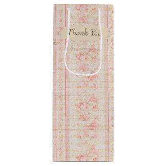 Vintage Rose Wine Gift bag