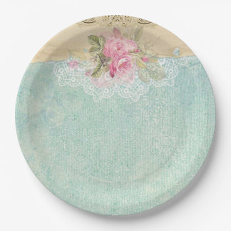 Vintage Roses 9 Inch Paper Plate