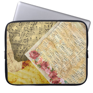 Vintage Roses and Musical Notes Sheet Music Case