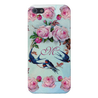 Vintage Roses, birds and Monogram iPhone 5/5S Covers