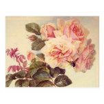 Vintage Roses Bridal Shower Post Card
