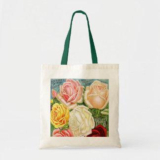 Vintage Roses Budget Tote Bag