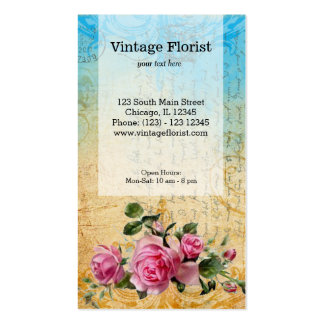 Vintage Roses Double-Sided Standard Business Cards (Pack Of 100)
