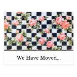 Vintage Roses Change of Address Postcard