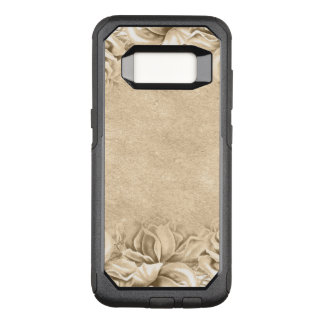 Vintage Roses Ecru Beige Earth Tones Neutral OtterBox Commuter Samsung Galaxy S8 Case