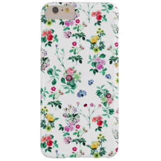 Vintage roses flowers. red, white, green barely there iPhone 6 plus case