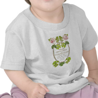 Vintage Roses Four Leaf Clovers St Patrick's Day C Tee Shirt
