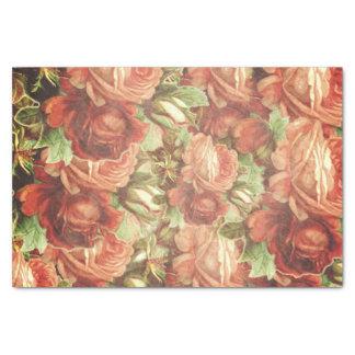 Vintage Roses Grunge Tissue Paper