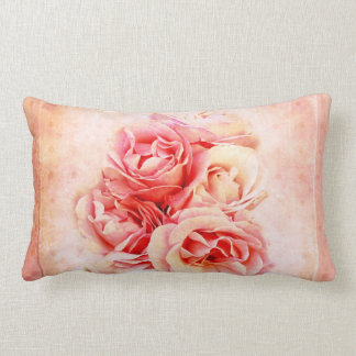 Vintage roses in the vase pillows