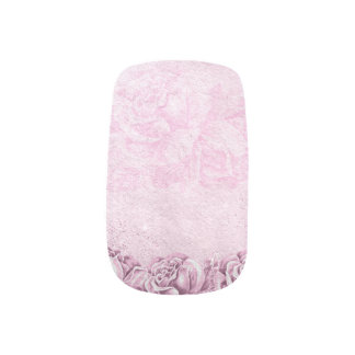 Vintage Roses Lavender & White Floral Nail Sticker