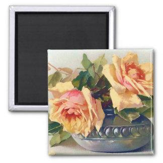 Vintage Roses Magnet Refrigerator Magnet