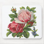 VINTAGE ROSES MOUSE PAD