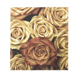 vintage roses notepad