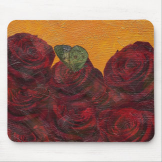 Vintage Roses Oil Painting Mouse Pad