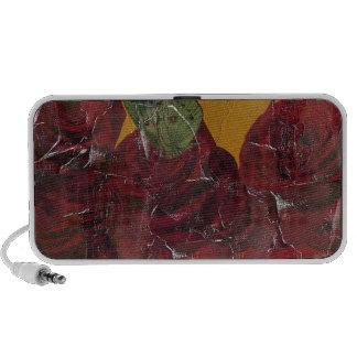 Vintage Roses Oil Pallete Texture Travel Speakers