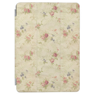 Vintage Roses old distressed fabric pattern iPad Air Cover
