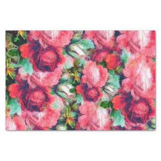 Vintage Roses Old Tissue Paper