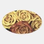 Vintage Roses Oval Sticker