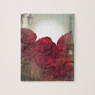 Vintage Roses Paris Jigsaw Puzzle