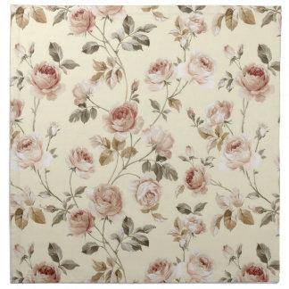 Vintage roses pattern napkin