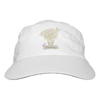 Vintage Roses Pot and Butterflies Hat