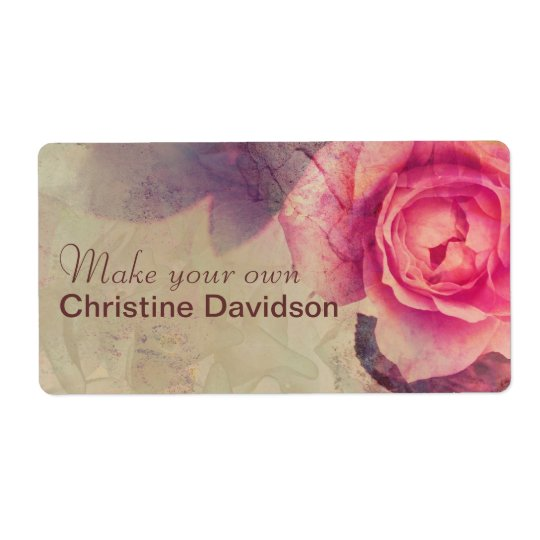 Vintage roses shipping label