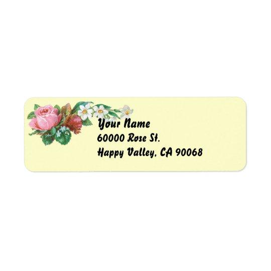 Vintage Roses Simple Return Address Labels