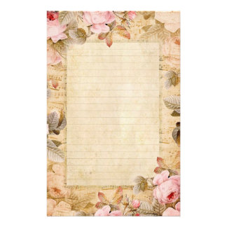Vintage Roses Stationary Stationery