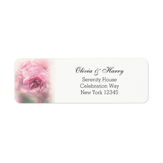 Vintage Roses Wedding Return Address Labels