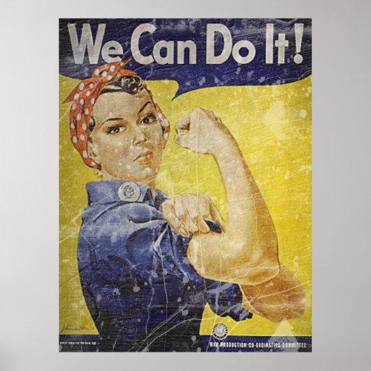 Vintage Rosie The Riveter Poster