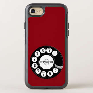 Vintage Rotary Dial (Red) OtterBox Symmetry iPhone 8/7 Case