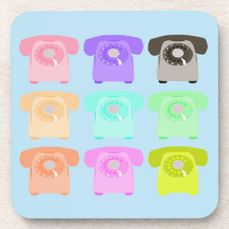 vintage rotary dial telephone coaster
