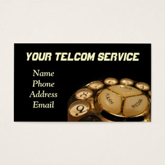 Vintage Rotary Dial Telephone Set Business Card