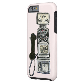 Vintage rotary payphone art for a cell phone case. tough iPhone 6 case