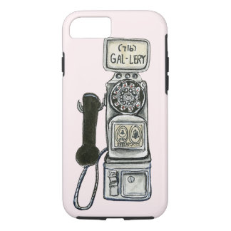 Vintage rotary payphone art for a cell phone case. iPhone 7 case