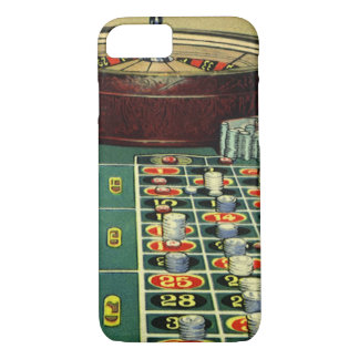 Vintage Roulette Table Casino Gambling Chips Game iPhone 7 Case