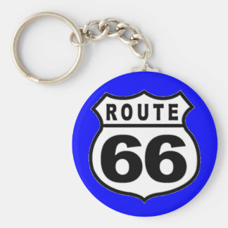 VINTAGE ROUTE 66 AMERICANA FATHER'S DAY KEY RING