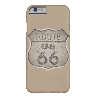 Vintage Route 66 Rustic Metal Barely There iPhone 6 Case