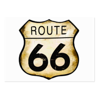 Vintage Route 66 Sign Business Cards