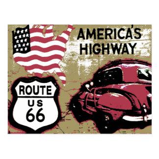 Vintage Route US 66 Postcard