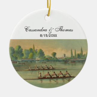 Vintage Rowers Crew Race Boat Race Christmas Ornament