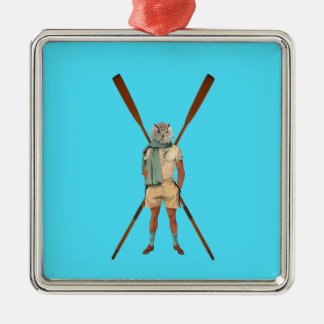 Vintage rowing gifts christmas ornament