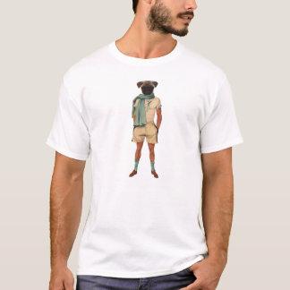 Vintage Rowing Tshirt Pug