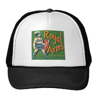 Vintage Royal Arms Fruit Label Mesh Hats