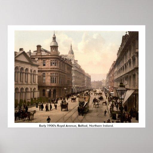 Vintage Royal Avenue Belfast, Northern Ireland Print