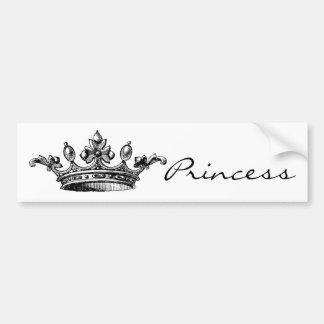 Vintage Royal Crown Bumper Sticker