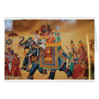 VINTAGE ROYAL INDIAN WEDDING PROCESSION  ELEPHANT CARD